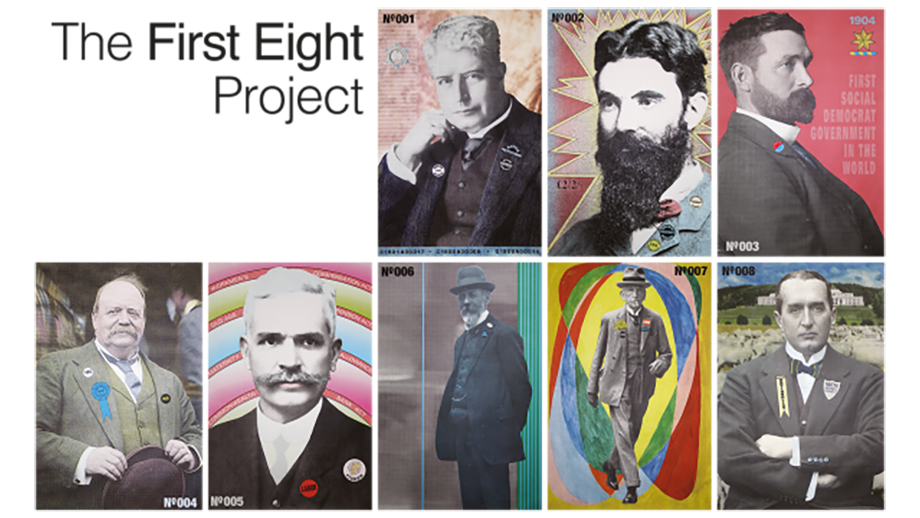 The first eight project art Artwork by Alison Alder