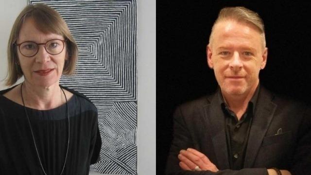 Photo of Prof Angela Woollacott and Mark Kenny