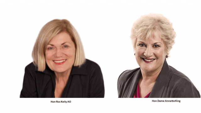 The Hon. Rose Kelly AO and The Hon Dame Annette King